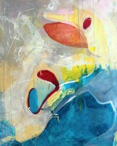 Plan Q - XXI century, Contemporary Oil Painting, Abstraction, Colorful