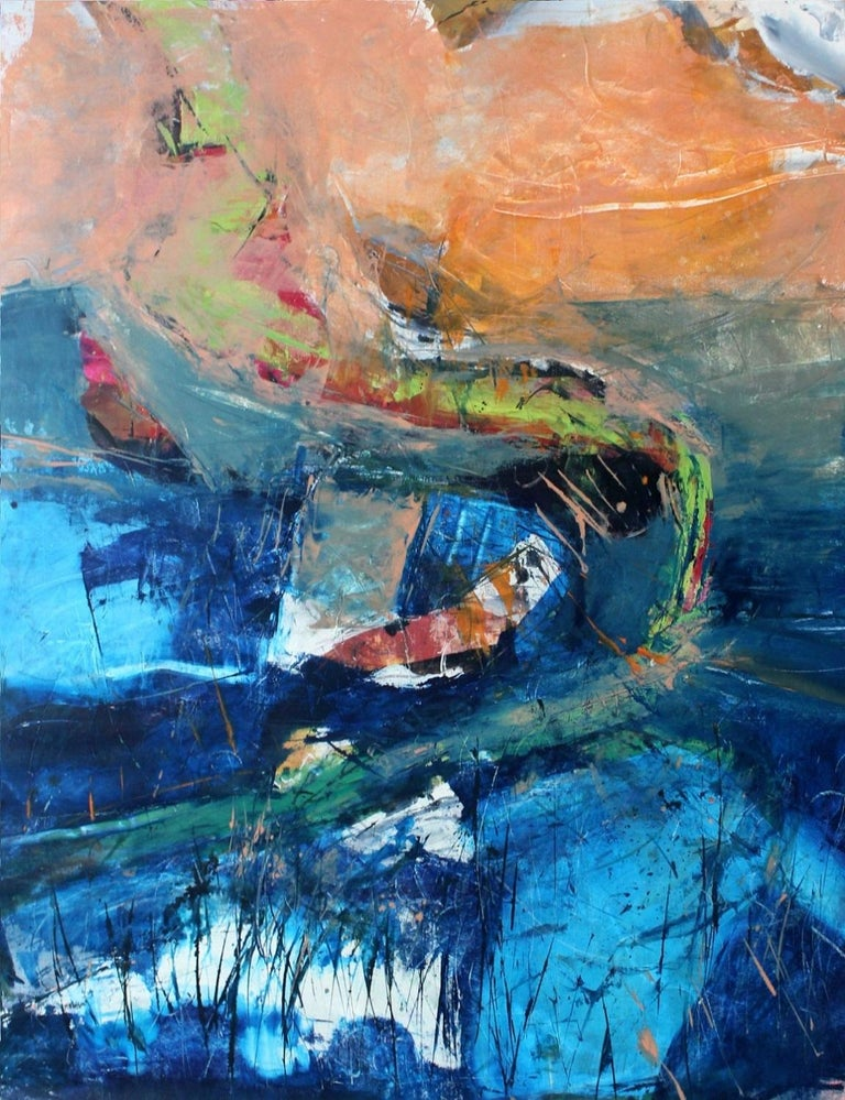 Monika Rossa Figurative Print - Towards destination A - Contemporary Oil Painting, Abstraction, Colorful