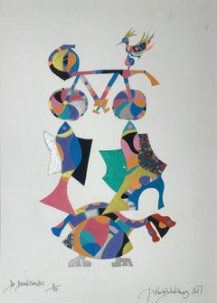 De revolutionibus - XXI century, Mixed media, Gel art, Abstract print, Colorful