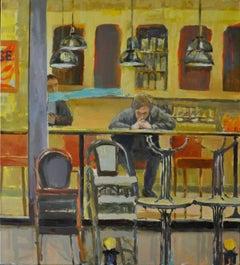 Single - XXI Century, Contemporary Figurative Oil Painting, Everyday life scene