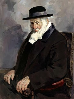 Portrait of Rabbi Yeshayah Steiner - Contemporary Realistic Oil Painting