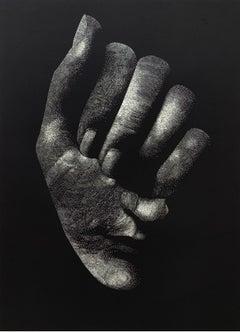 Intro - XXI Century Contemporary Linocut Print, Surrealism, Black & white