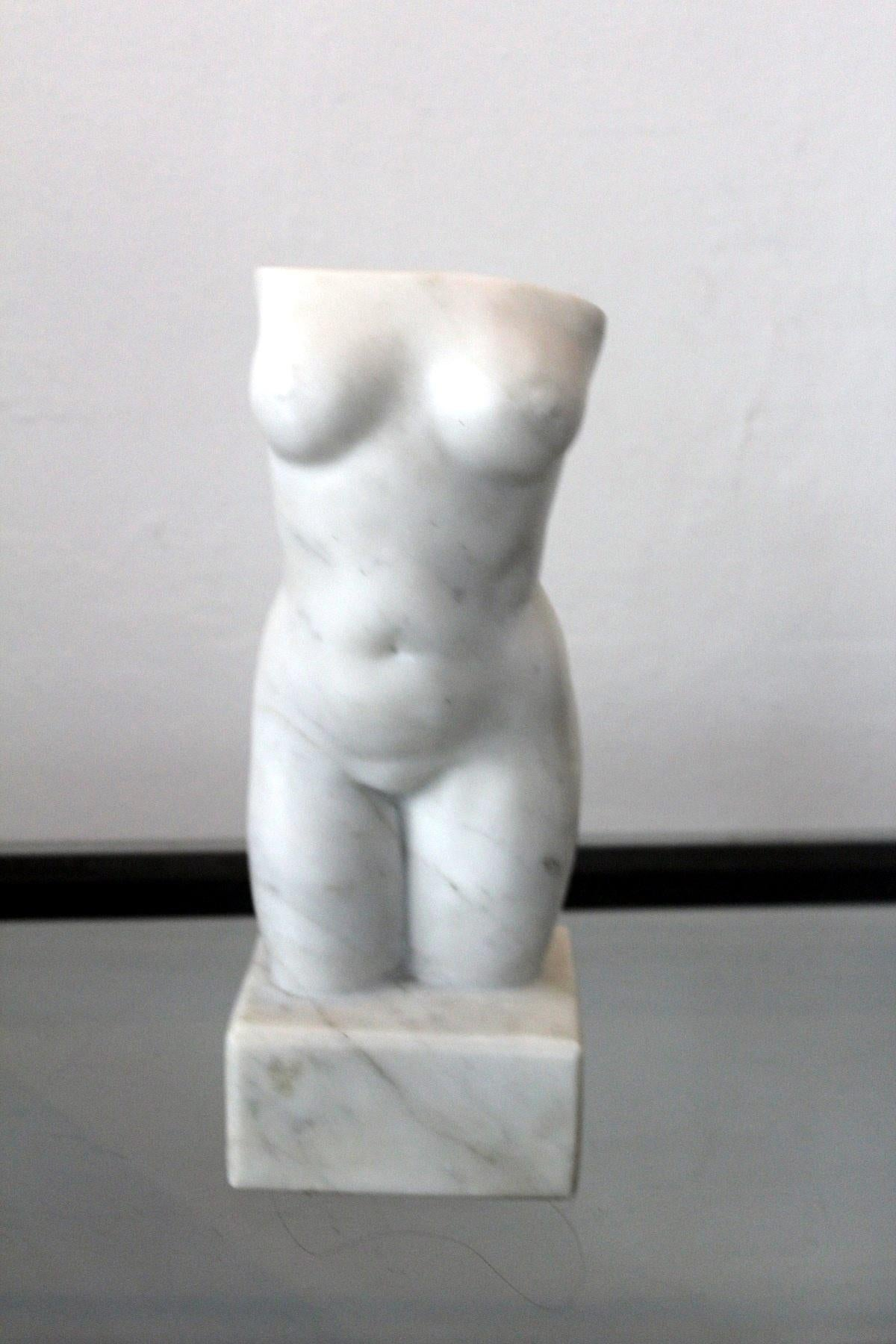 Nude - XXI century, Marble figurative sculpture, Classical