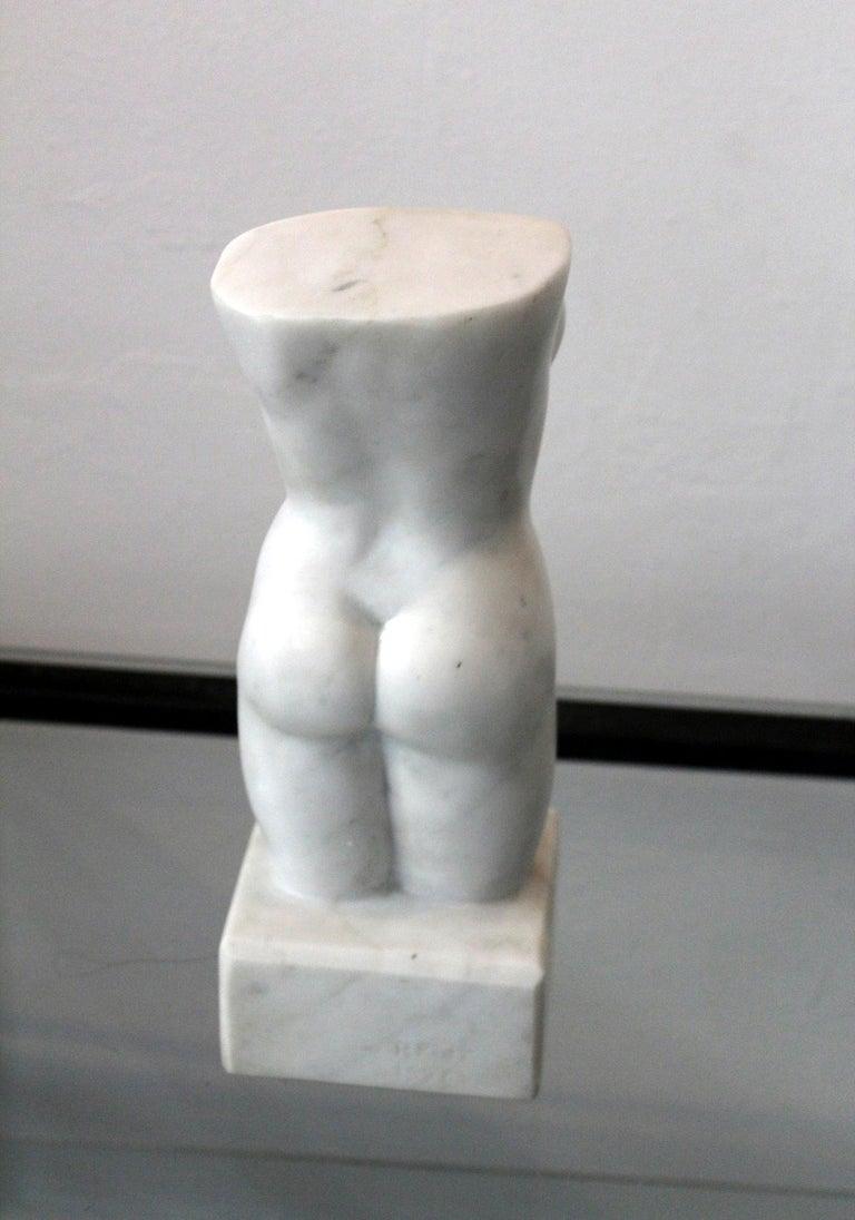 Nude - XXI century, Marble figurative sculpture, Classical - Gray Figurative Sculpture by Ryszard Piotrowski