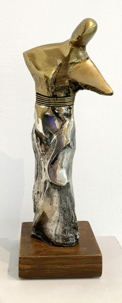 Character - Contemporary Brass Sculpture, Figurative & abstract