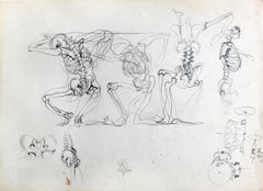 Skeletons - Polish Art Master, Contemporary Surreal Drawing, XXI Century