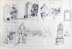 The corner of Brzeska Street and Capri - Polish master, Surreal Drawing,