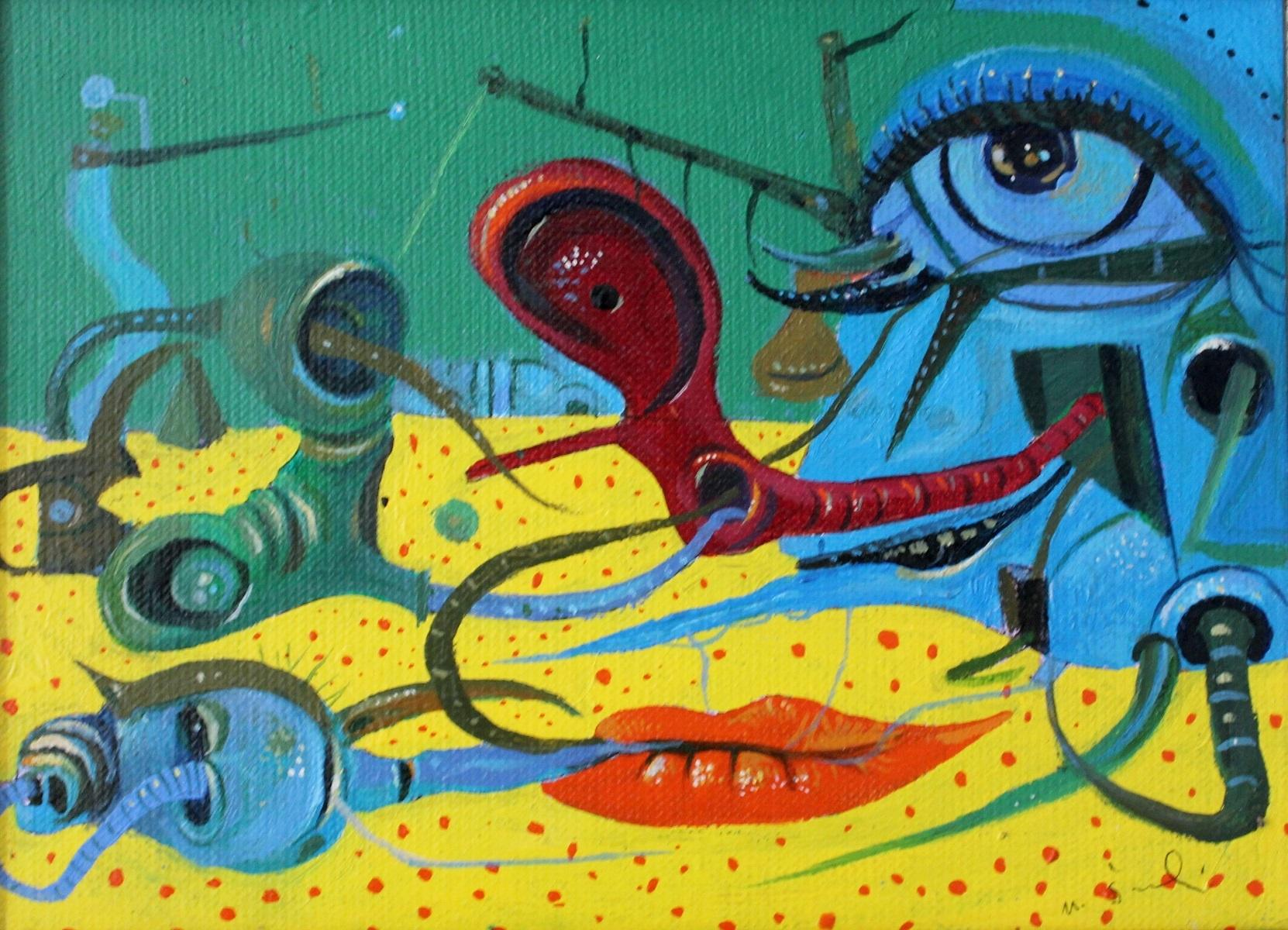 Composition - Contemporary Surreal Painting, Vibrant colors, XXI Century