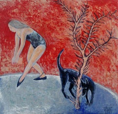 Dance - Contemporary Figurative Acrylic Painting, Animal, XXI Century