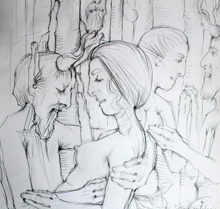 Mythological scene - Contemporary Figurative Mythology Drawing, XXI Century For Sale 2