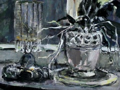 Still Life with an orchid- XXI Century, Figurative Oil Painting, Still Life