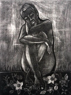 Woman - XXI Century, Contemporary Figurative Print, Black And White
