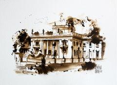 Warsaw - The Royal Łazienki - XXI Century, Watercolour Figurative, Architecture