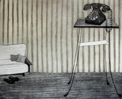 Call me - XXI Century, Contemporary Etching, Interiors