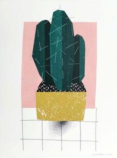 Cactus - Digital print, Young art, Figurative art, Plants, Colorful