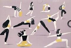 Yoga - Digital print, Young art, Contemporary figurative art, Colorful