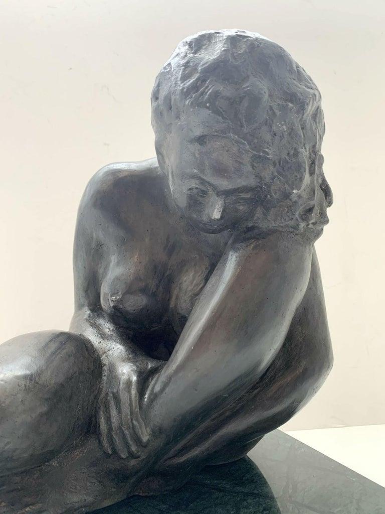 Woman - XXI century Contemporary figurative bronze sculpture, Classical, Realism For Sale 2