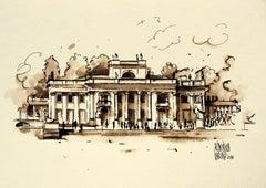 Warsaw - Royal Łazienki Palace - XXI century, Watercolour figurative