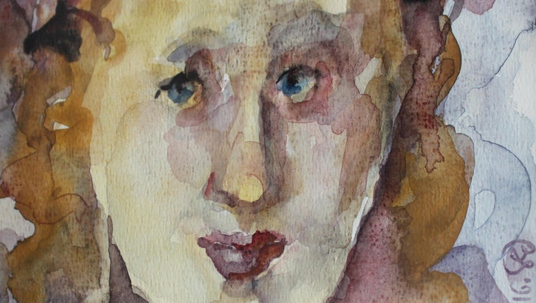 Spring - XXI century, Figurative watercolour portrait, Symbolic - Other Art Style Art by Barbara Dyoniziak-Stuss