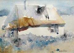A cottage - XX century, Landscape, Watercolour figurative
