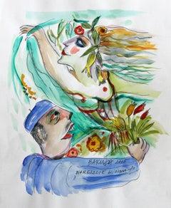 Spring, at last! - XXI century, Watercolour figurative, Colourful