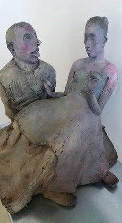 Couple - XXI Century, Bronze, Figurative Sculpture