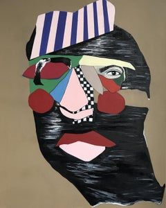 Mimosa - XXI Century, Figurative oil painting, Portrait, Colorful
