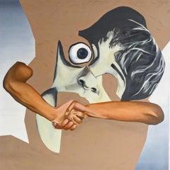 A scream - XXI Century, Figurative oil painting, Surrealist, Portrait