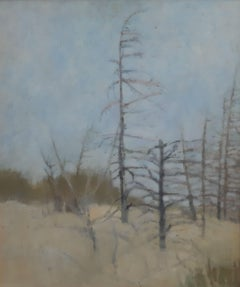 A silent lanscape - XXI Century, Contemporary figurative painting, Forest