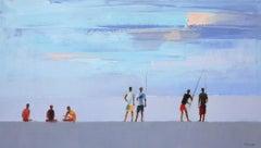 Dusk II -  XXI Century, Contemporary figurative oil painting, Landscape