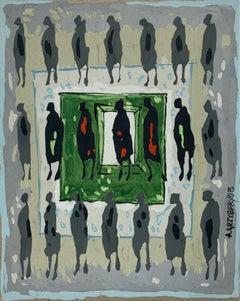 Untitled - XXI Century, Gouache Painting, Figurative
