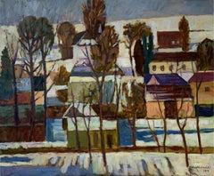 Winter sun - XXI Century, Oil Landscape Painting, Colourful, Nature view