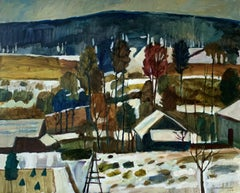 Winter forest - XXI Century, Oil Landscape Painting, Colourful, Nature view