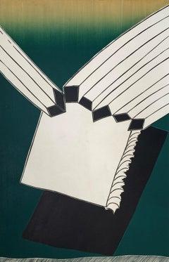 A beginning - XX Century abstraction woodcut print