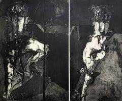 Le soleil - XX Century figurative etching print, Surreal, Black & white