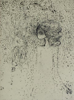 A creature - XX century, Abstract etching print, Monochromatic, Black