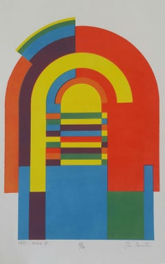 Structure VII - XX century, Abstract print, Colorful, Vibrant, Geometric