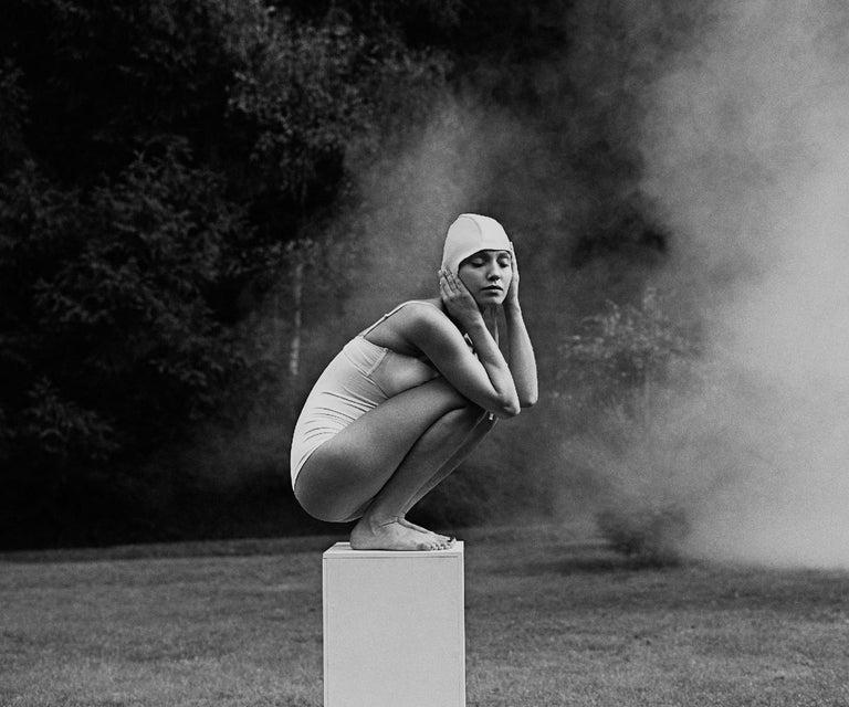Joanna Chudy Figurative Photograph - Oblivion. Hidden identity - Contemporary black & white photography, Figurative