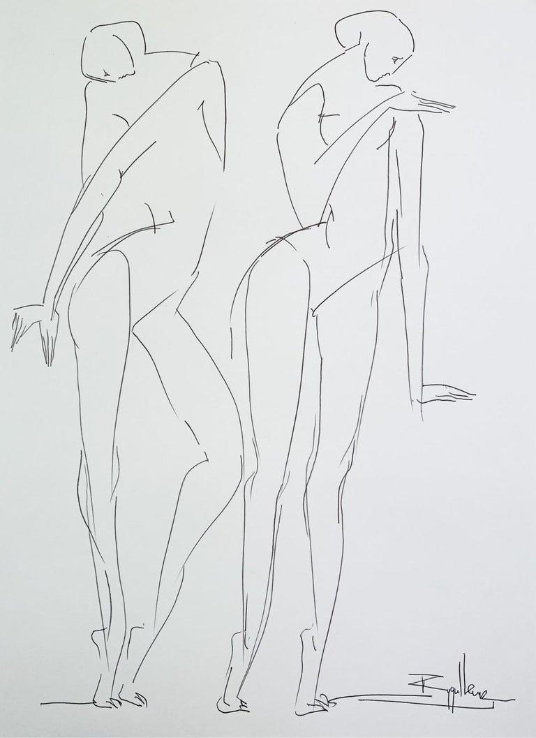 Katarzyna Zygadlewicz Figurative Art - No Title- XXI Century, Contemporary Drawing, Black And White