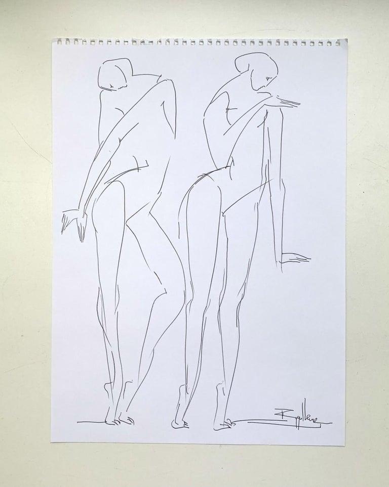 No Title- XXI Century, Contemporary Drawing, Black And White - Art by Katarzyna Zygadlewicz