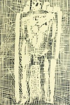 Saint Sebastian - XX century, Black and white print, Woodcut, Polish art master
