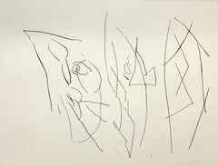 Blind erotomaniac - Black & white print, Etching, Abstraction, Polish art master