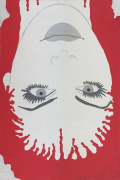 Death becomes her VII - Contemporary figurative acrylic painting, Pop art
