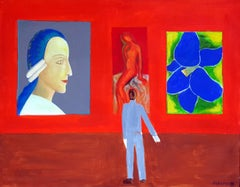 Gallery I - XXI century, Oil figurative painting, Interior, Vibrant colors