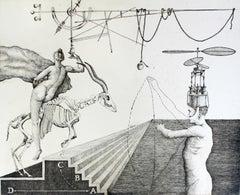 Forced sin activity - XXI century, Etching print, Figurative, Surrealist