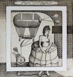 Virgin most prudent - XXI century, Etching print, Figurative, Surrealist
