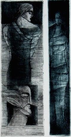 Orpheus - XXI century, Figurative print, Limited edition