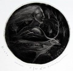 Wind - XXI century, Figurative print, Limited edition, Monochromatic