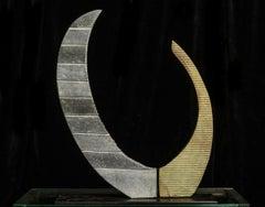Récepteur d'émotion - XXI century, Abstract sculpture, Granite and metal