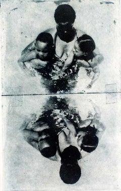 Trespassing - XX century, Black and white print, Figurative, Children